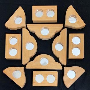 Bauspiel Mirror Blocks - 12pc