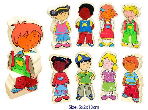 Wooden Magnetic Children Faces Multicultural Puzzle