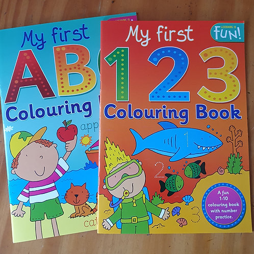 My first ABC, 123 Colouring & Activity Book