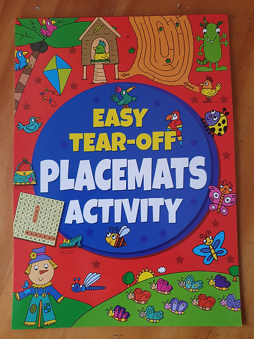 Easy Tear-Off Placement activity book