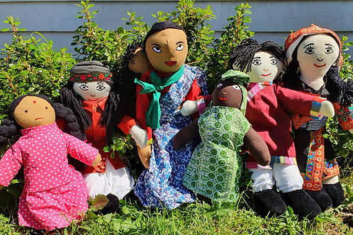 6 pc Multi-Cultural Dolls Set