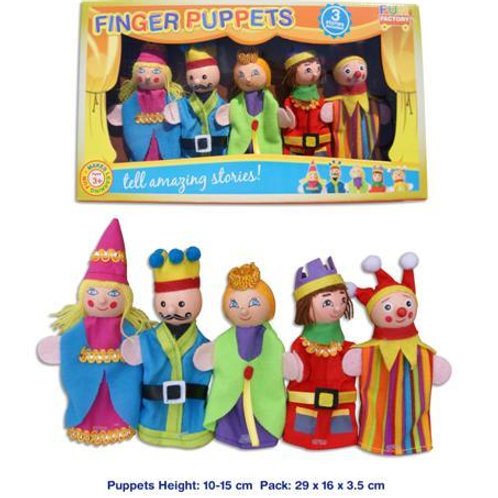 Finger Puppet 5pc - king/queen