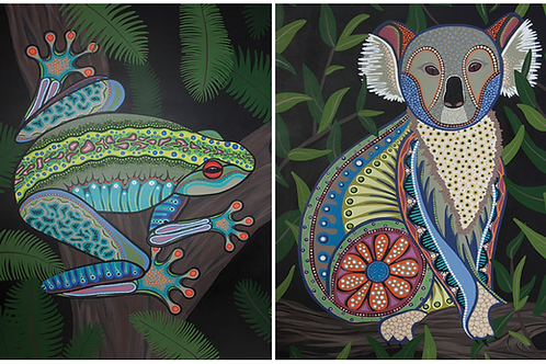 Australian Green Tree Frog & Australian Koala Puzzle Set