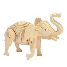3D Cardboard Puzzle- Elephant, Lion or Giraffe