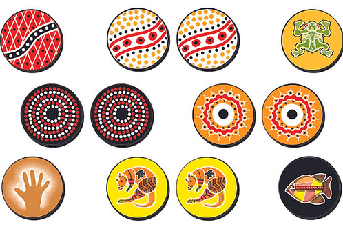 Aboriginal Token Memory Game