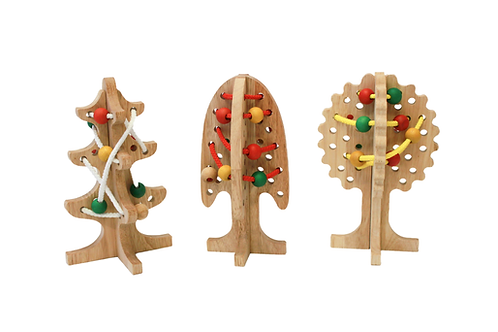 Solid Lacing Trees set of 3