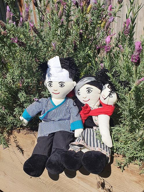 Tibetan Family Dolls Set