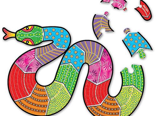 Aboriginal Snake Floor Puzzles