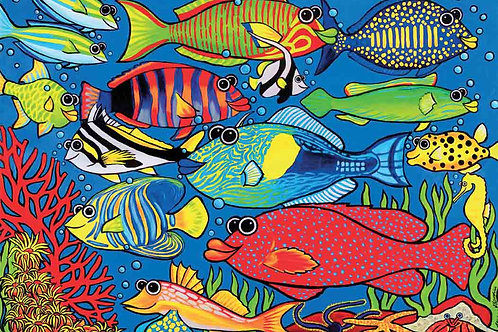 A3 Size - 12 Pc - Party At The Reef Puzzle