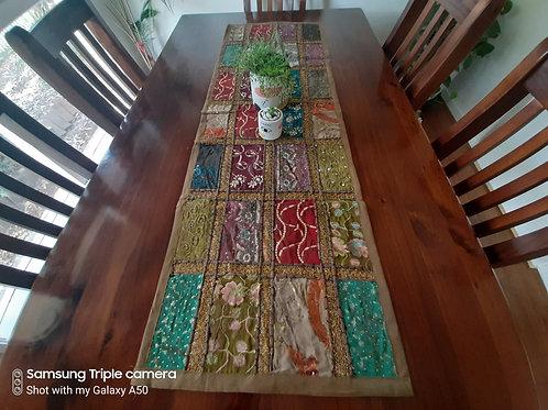 Multi-Coloured Handmade Table Runner120cm x 40cms - Olive