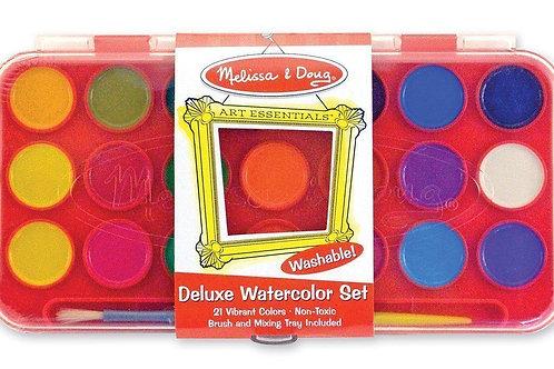 Melissa & Doug - Deluxe Watercolor Paint Set (21 colours)