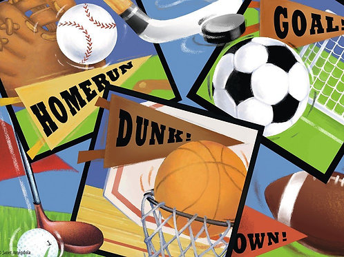Sports! Sports! Sports! by Janet Amendola 60pcs Puzzle