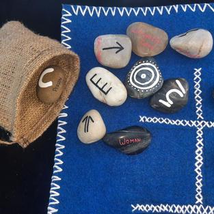 Aboriginal Symbol On stone