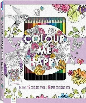 Colour me book set kit with 15 Artist colour pencils