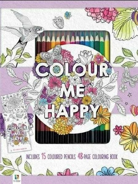Colour me book set kit with 15 Artist colour pencils