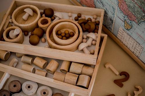 Wooden Montessori Nesting Trays (three)