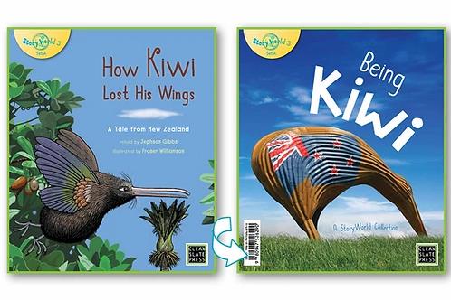 How Kiwi Lost his Wings/Being Kiwi - Flipside book