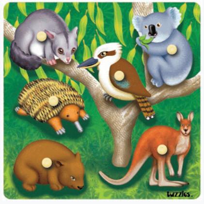 Native Australian Animals - Knob Puzzle