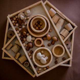 Wooden Montessori Nesting Trays
