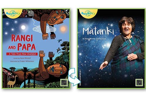 Rangi and Papa & Matariki - Flipside book (New Zealand)