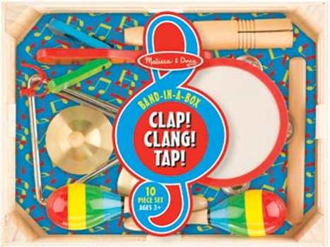 Melissa & Doug Band-In-A-Box - Clap, Clang, Tap