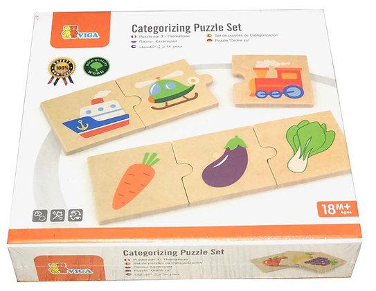 Sorting Matching Wooden Categorising Puzzle SET 24 pcs Educational