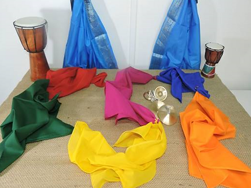 Set of 6 Rainbow Colour Scarves