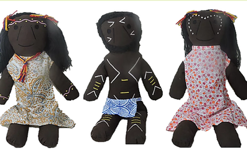 Set of 3 Aboriginal Inspired Dolls
