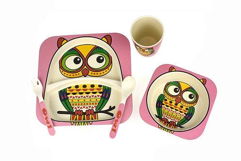 Bamboozoo Dinnerwear Set 5pc (OWL)