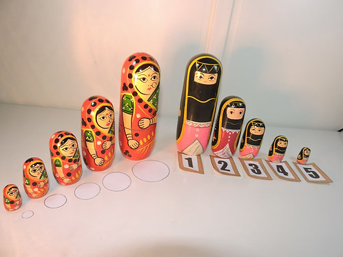 Set of 2 Babushka Dolls & get 1 free