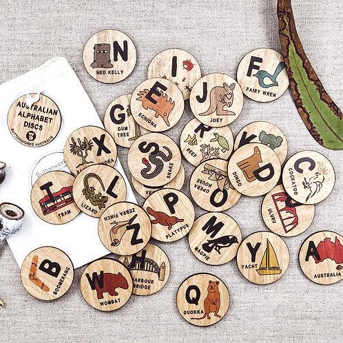 Australian Alphabet Discs Made in Australia
