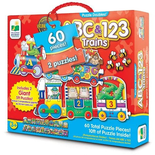 ABC & 123 Train – Giant Floor Puzzle Doubles