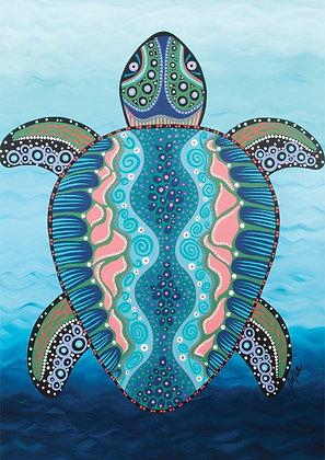 Australian Sea Turtle - Size A3