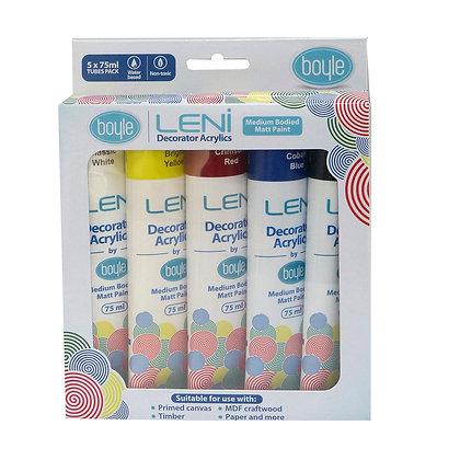 Leni Decorator Acrylics paint - 5 pack