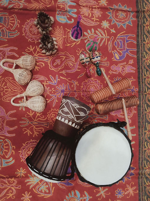 12 Pc African Musical Instruments (Small Set)