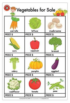 Vegetables For Sale Poster