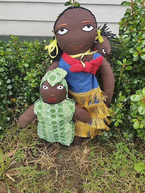 2 x African Dolls