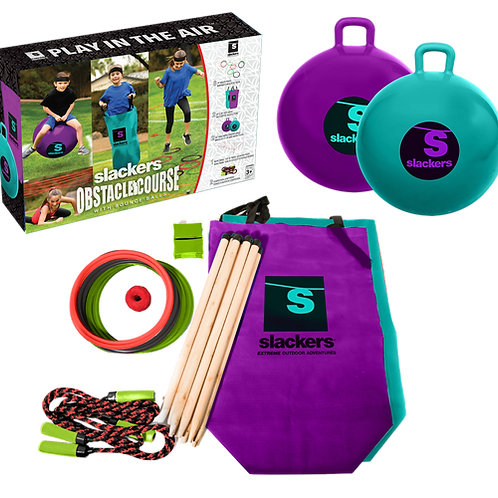 Slackers - Family Obstacle Course - with 2 x bounce balls