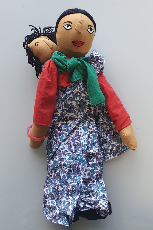 Indian Mother Doll with Baby