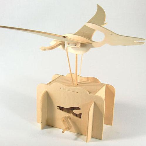 Flying Pteranodon Working Wooden Construction Craft Kit - Automaton