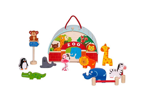 Wooden Zoo Playset