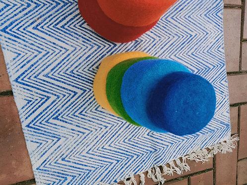 100% Pure wool Rainbow Nesting Bowls