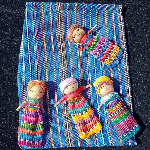 Guatemala Worry Dolls 4pc