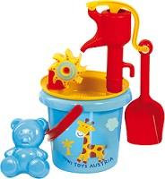 WATER PLAY BUCKET with pump & sand set