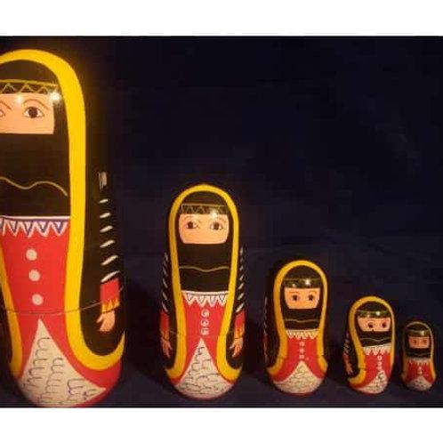 5 in 1 Arabic Babushka Doll