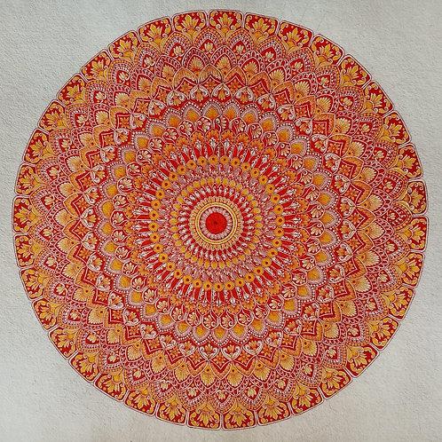 Sunshine Mandala Original Painting Unframed