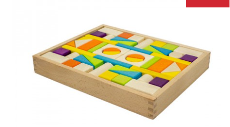 54 piece - Wooden Block Tray