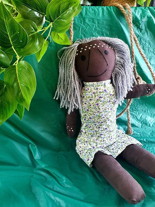 Aboriginal Elder Female Doll