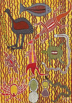 Aboriginal Tucker Koori Artwork Size A3