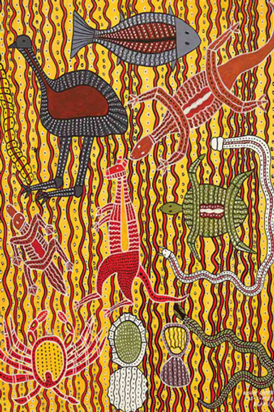 Aboriginal Tucker Koori Artwork Size A3